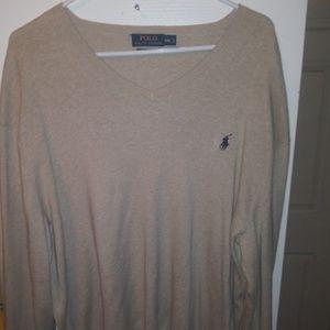 Men's Ralph Lauren polo cream thin sweater